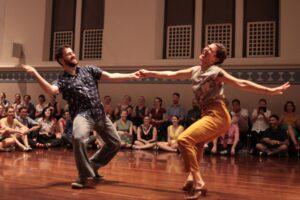 Swing dancing performers at Hullabaloo 2016