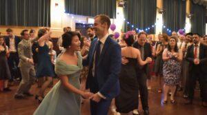 Dressed up Swing Dancing couple at Hullabaloo 2016