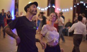 Swing dancing couple at Hullabaloo 2016