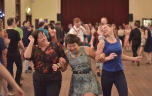 Swing dancing girls at Hullabaloo 2016